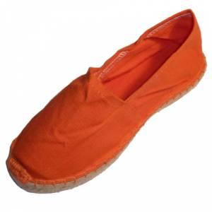 Naranja - CLFR Alpargata Clásica Niño Forrada e Hilo al Tono Naranja Talla 32